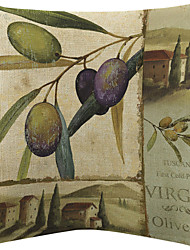 vintage de oliva padrão de veludo capa almofadas decorativas