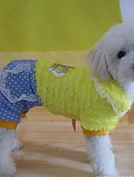 Dog Pants Yellow Winter Tiaras & Crowns Cosplay