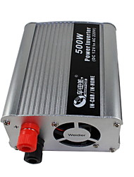 BEAUTY-CAR 500W DC 12V to AC 220V Car Power Inverter(Silver)