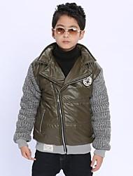 o menino ea união de lã com algodão acolchoado roupas grossas