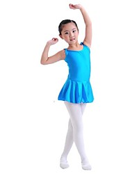 Kids' Dancewear Dresses Children's Training Spandex Blue / Fuchsia / Pink Ballet Sleeveless Natural