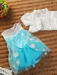 Girl's Cotton Blend Dress , Summer Sleeveless