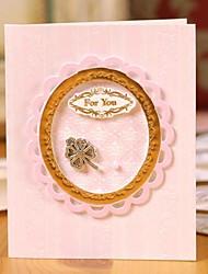 estampados mini cartões tridimensionais moldado ouro (8 * 10cm)