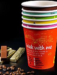 8oz Single Deck Disposable Paper Cups 100Pcs/Bag