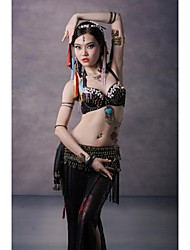 Belly Dance Tops Women's Performance Cotton / Metal Copper Coins / Buttons