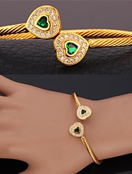 U7®Cuff Bracelet 18K Real Gold Platinum Plated Love Bracelet with AAA+ Cubic Zirconia Fashion Jewelry