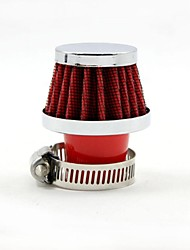 TIROL  Universal  Red Mini Cold Air Intake Diameter 25mm Round Tapered Auto Air Filters