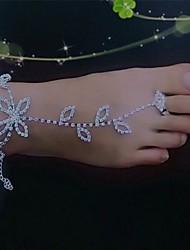 strass cadeia tornozeleira acentos decorativos para sapatos one piece