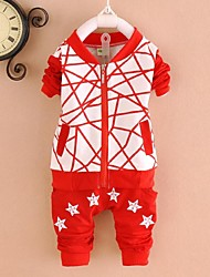 Boy's Cotton Clothing Set , Spring/Fall Long Sleeve