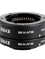 Meike MK-N-AF3B Auto Focus AF Macro Extension Tube Set 10mm&16mm for Nikon Micro DSLR Cameras