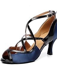 Latin Women's Satin Sandals with Buckie Dance Shoes