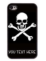 gepersonaliseerd geval kruis schedel ontwerp metalen behuizing voor de iPhone 4 / 4s