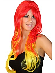 Halloween Cosplay  Points Bang Long Curly Hair Wigs