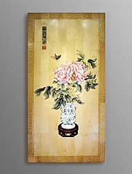 BNQJ Hand Painted Traditional Chinese Painting Flower Peony Home Wall Decor Handcraft Artwork DIY Ready To Hang