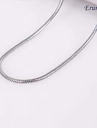 eruner®unisex cadeia cobra um milímetro colar de corrente de prata no.41