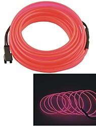 Auto Car 2M Long 7mm Dia Flexible EL Wire Neon Glow Strip Rope-(12V)