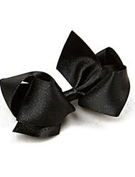 toulejour® Mädchens bling bling schwarz silber Oversize-künstlerischen Bogen Haarnadel