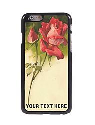 cas de téléphone personnalisé - croquis conception de rose boîtier métallique pour iPhone 6 plus