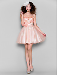 Homecoming Dress Ball Gown Sweetheart Short/Mini Tulle
