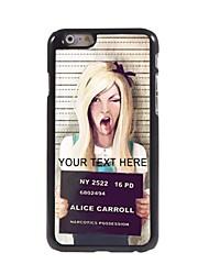 caso de telefone personalizado - lovely caso projeto da menina de metal para iphone 6