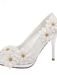 Women's Shoes Round Toe Stiletto Heel Wedding Pumps Shoes
