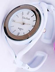Women's Bracelet Watch Quartz Imitation Diamond Alloy Band Black White Brand