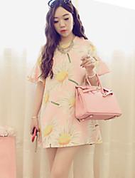 Mengchen Women's Fashion Casual Off The Shoulder Dress