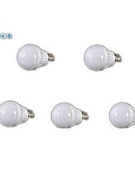 5W E26/E27 LED Kugelbirnen A60(A19) 18 SMD 2835 400-500 lm Warmes Weiß AC 220-240 V 5 Stück