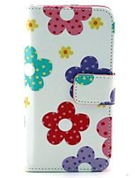 padrão de flor do sol caso pu função estande bolsa de couro coldre para Huawei Y330