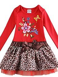 meisje jurk kinderen winter voorjaar lange mouwen met bloemen geborduurde jurk voor meisjes kinderen jurken