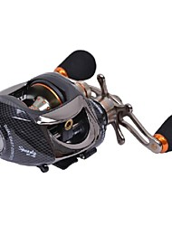 Tsurinoya 14 Bearings Baitcasting Fishing Reel  Two Brake Systems Left Hand Black Color