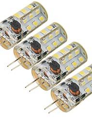 5W G4 LED a pannocchia 27 SMD 2835 300 lm Luce fredda Decorativo DC 12 / AC 12 V 4 pezzi