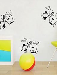 badkamer sticker muurstickers muur stickers, tanden borstel pvc badkamer sticker