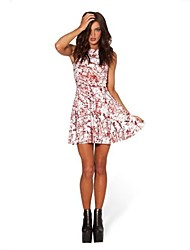 Women's Multi-color Dress , Print Sleeveless