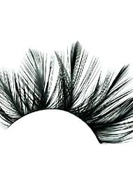 Loose Feather Black Carnival Eyelashes