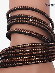 Eruner®Fashion Women Lady Multi-layer Wrist Cuff Top Street Bracelet Bangle(Coffe)