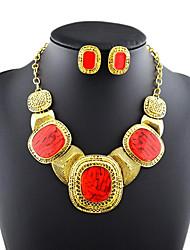élégance de luxe noble grand bijou grosse gemme (y compris collier&boucles d'oreilles) ensemble de bijoux (1 pc)