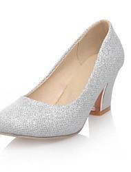 zapatos de las mujeres de las bombas del dedo del pie tacón grueso ronda zapatos más colores disponibles