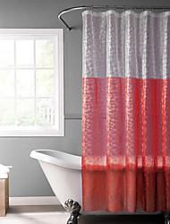 eva vermelho cortina de chuveiro 3d com janela