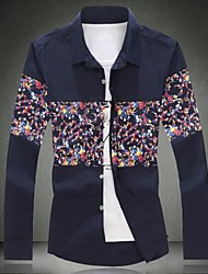 Men's Big Code Floral Cotton Shirt