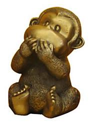 NO Say Cute Monkey Decoration ,Copper