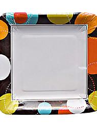 modello colorato palla di carta usa e getta piatti 20pcs / bag