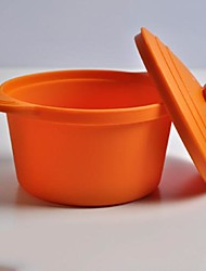 Baking Bowl with Lid for Kids or Outdoor Camping, Food Safe Silicone Material, Random Color