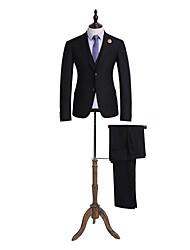 noir tailorde solide costume ajustement 100% laine