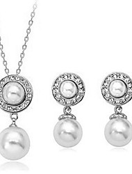 Elegant pearl earrings necklace two suits