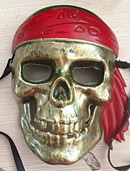 Bronze Caribbean Pirate Costumes Mask