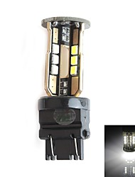 hj 3157 10w 900LM 5500-6000K 30x2835 SMD LED branco lâmpada de luz de freio de estacionamento (12-24V, 1 peça)