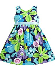 Girl's Cotton Dress , Summer/Spring Sleeveless