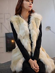 Fur Vest Fashion  Sleeveless Collarless Faux Fur Party/Casual Vest