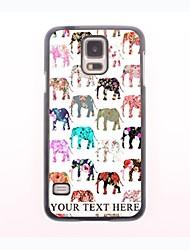 personalisierte Telefon-Fall - schöne Elefantentwurf Metallgehäuse für Samsung-Galaxie s5 Mini